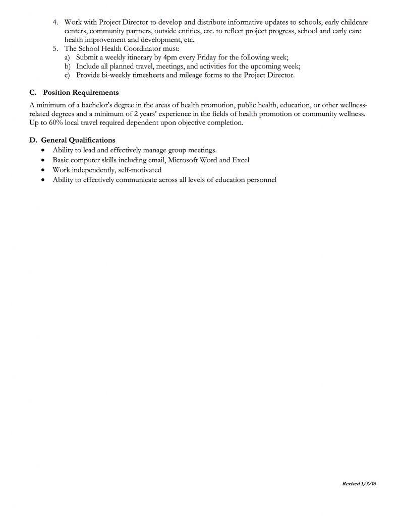 school health coordinator harrison county the